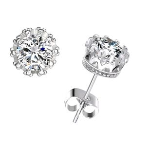 ♠️+ Swarovski® Stones Crystal Crown Studs Earrings